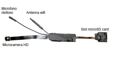 Modulo witeless con microcamera IP-WEB