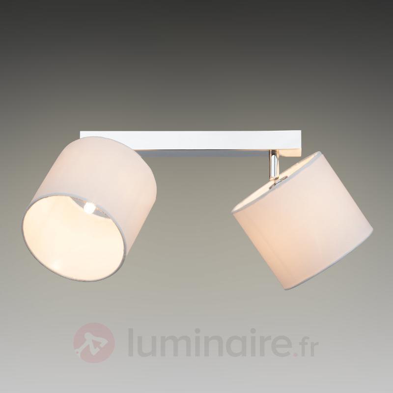 Plafonnier attrayant Sandra à 2 lampes - Plafonniers en tissu