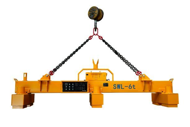 Electro Permanent Magnetic Beam with integrated Battery - HEBPP-09-080 / For Lifting of Steel Plates up to 9.000 mm