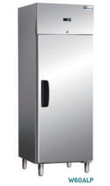 Armoires réfrigérées portes pleines - EXTÉRIEUR INOX ET INTÉRIEUR ALU - ARMOIRE NÉGATIVE - 1 PORTE W60ALN