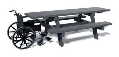 Table Pique Nique Pmr Recyclée - Tables De Pique-Nique