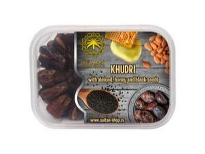 Khudri dates with almonds in honey with black cumin seeds - 400 g