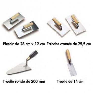 Outils & Primaires - Platoirs et Truelles Platoir de 28 cm x 12 cm Taloche Cranté