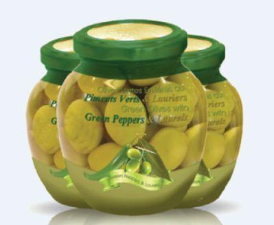 Olives de table - olive verte entière farcie dénoyauté
