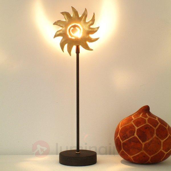 Charmante lampe à poser SONNE GOLD en fer - Lampes à poser pour rebord de fenêtre