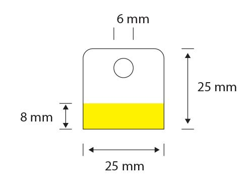Plastik yapışkanlı ürün asma aparatı