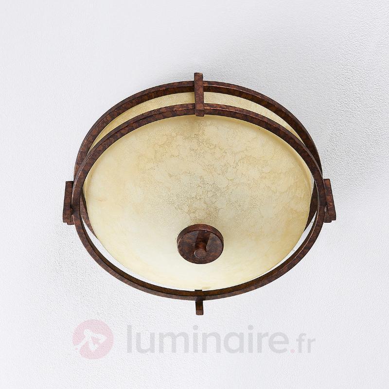 Plafonnier d'aspect rustique Rosanna - Plafonniers classiques, antiques