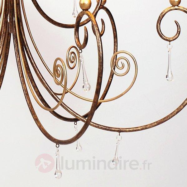 Impressionnant lustre ESEMPIO avec cristal - Lustres rustiques