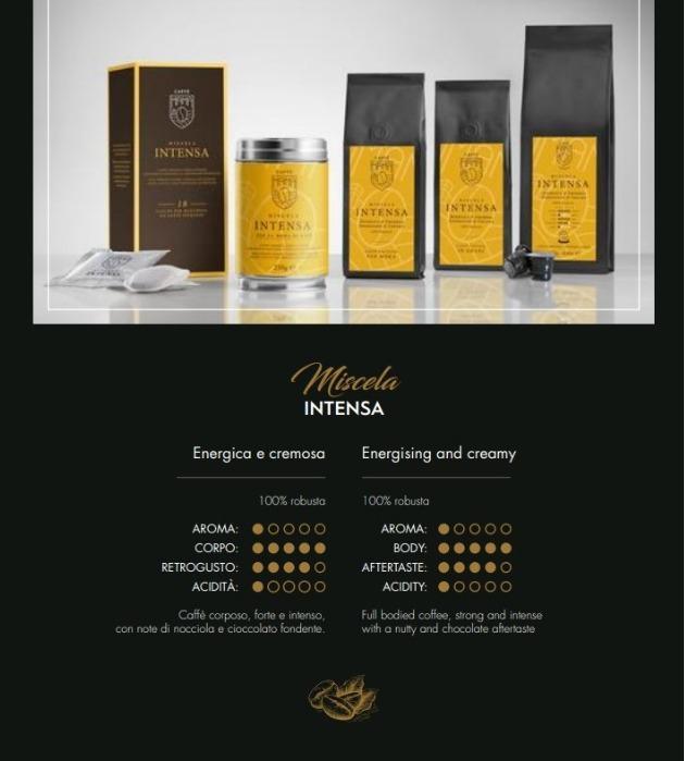 Miscela INTENSA 100% Robusta  - Caffè Italiano di alta quality, produzione artigianale