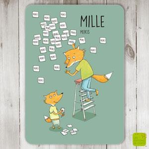 """Carte postale """"Mille mercis"""""""