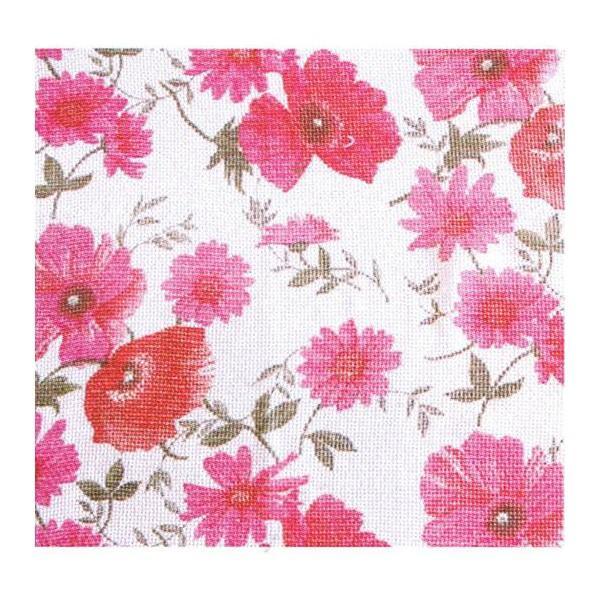 Rideau coton motif 'Fleurs' - null