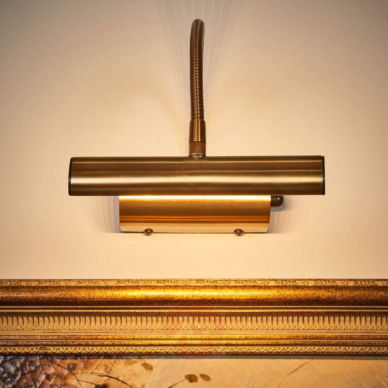 LED picture light Curtis in antique brass, dimmer - Picture Lights