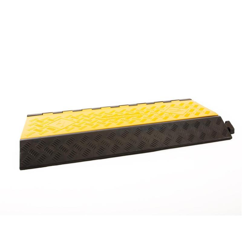 Kabelbrug 3 Kanälen schwarz/gelb 905x505mmx76mm - Kabelschutz