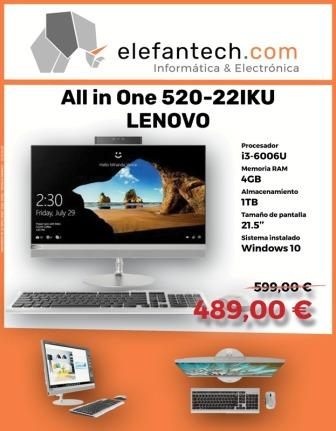 LENOVO ideacentre AIO 520-22IKU - Disponible hasta fin de stock
