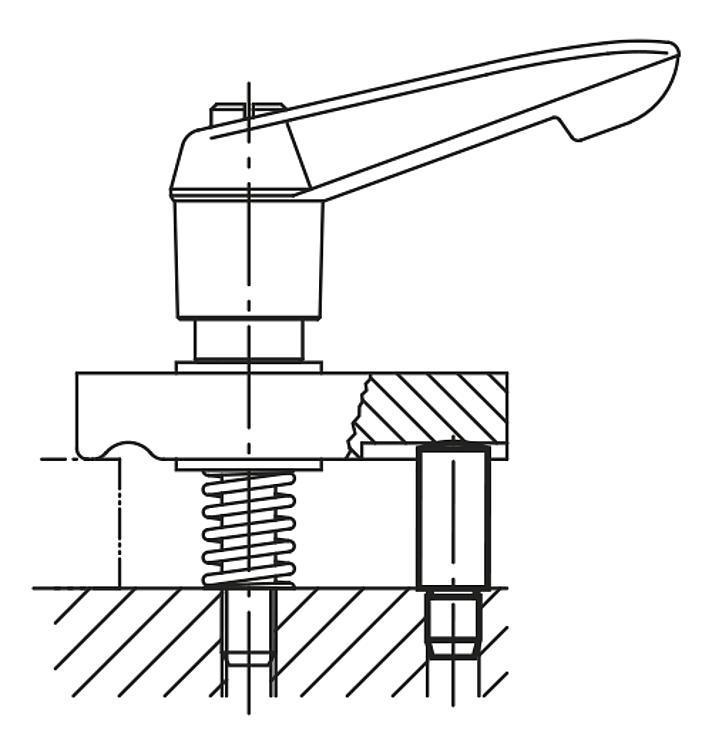 Flexibles Normteilesystem - Auflagebolzen