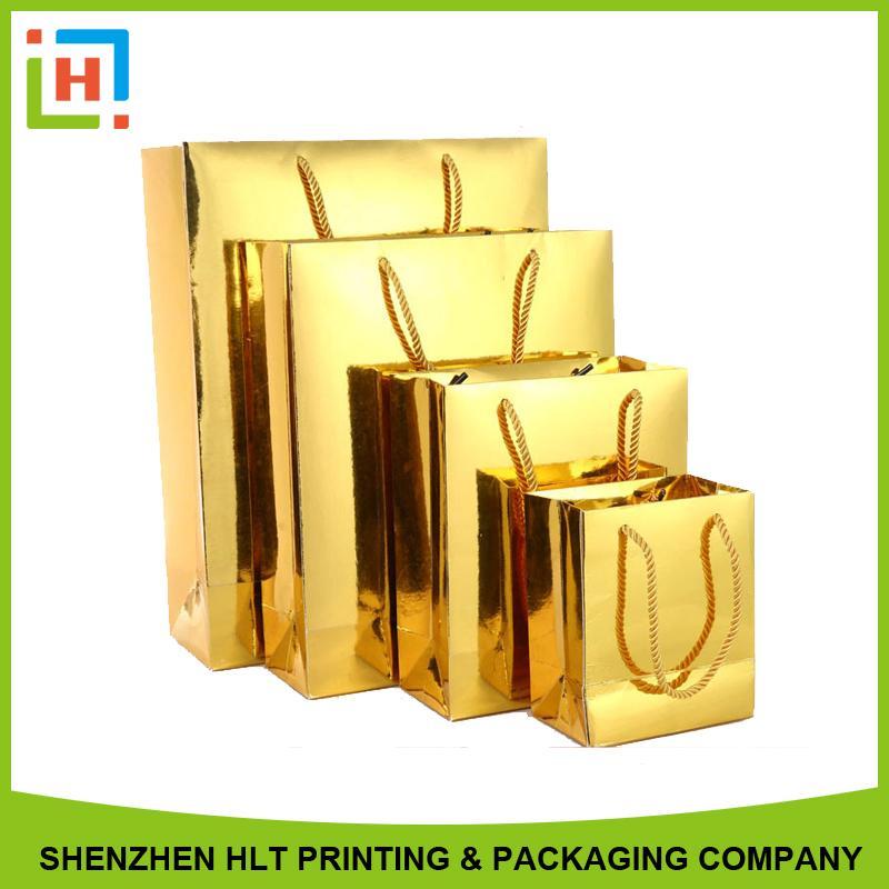 Golden paper bag - Paper bag
