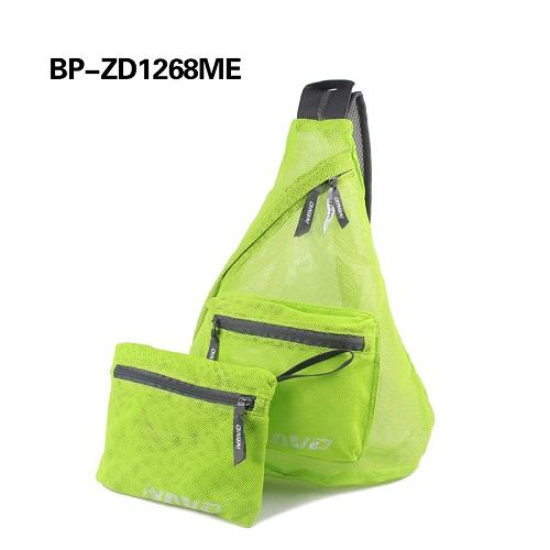 Reusable trendy triangle mesh backpack - Adjustable padded shoulder strap with plastic release buckle