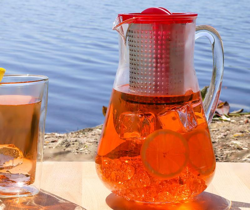 Iced-tea brewer with patented brew-stop insert - Tea Brewers