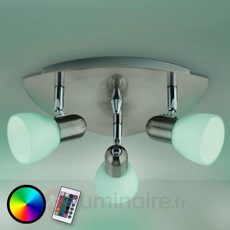 Plafonnier LED RGBW à trois lampes Enea-C - Plafonniers LED