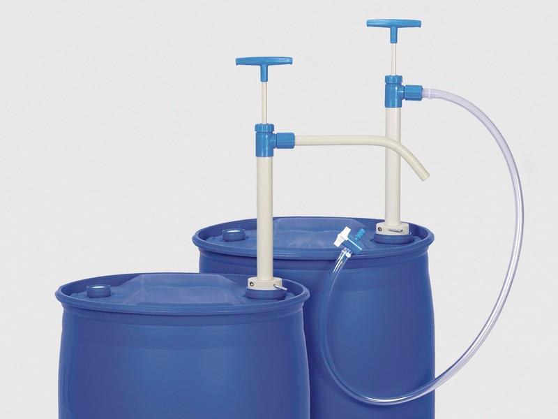PP barrel pump - Manual pump, discharge tube or hose, for acids, alkalis and aggressive...
