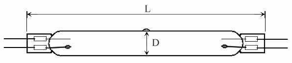 HIGH PRESSURE QUARTZ LAMPS - Lamp Type: TQIH - null