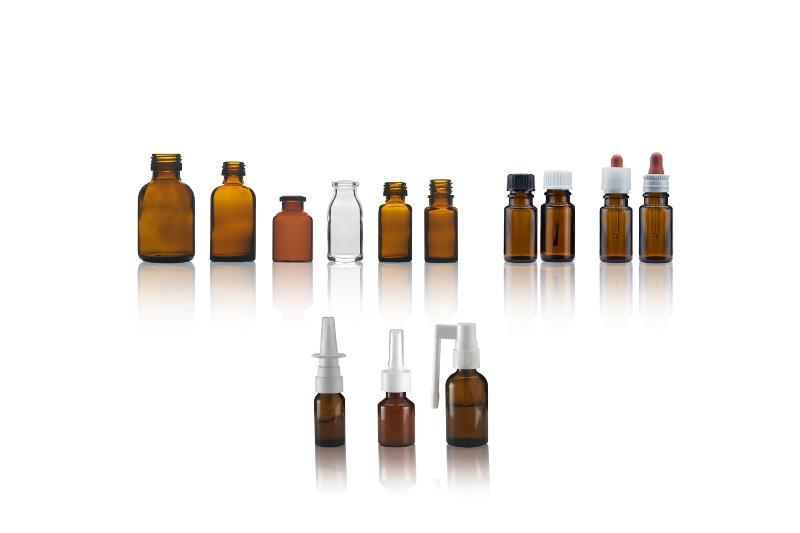 Bottiglie di vetro con vari sistemi di erogazione - LIQUIDI PER USO INTERNO ED ESTERNO