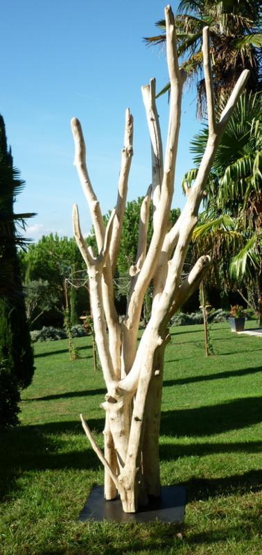sculpture de branches de bois flott gros mod le divers mobiliers deco nature france. Black Bedroom Furniture Sets. Home Design Ideas