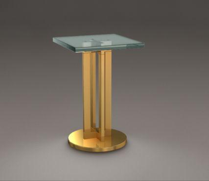 Square glass end table - Model End Table 992 bis