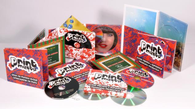 Druck von Verpackungen für CDs/DVDs - Digitaldruck - Digipack, Digifile, digisleeve,Kartonstecktasche