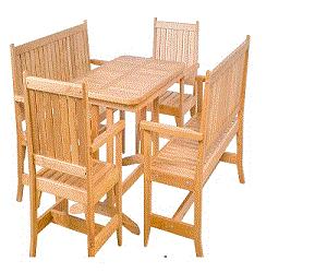 Садовой мебели – ( материал Ольха  ) - Комплект раскладной садовой мебели