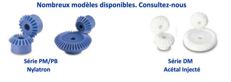 Engrenage conique plastique, Couple conique en... - Engrenage conique plastique, Couple conique en plastique Module 1 à Module 4