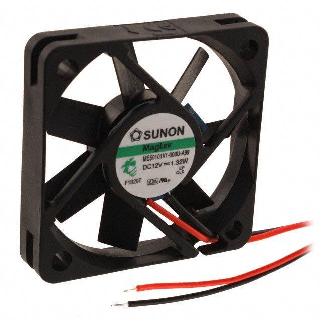 FAN AXIAL 50X10MM 12VDC WIRE - Sunon Fans ME50101V1-000U-A99