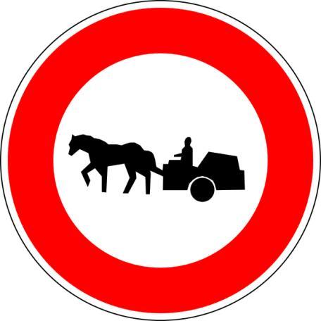 Panneau B9c Accès Interdit Aux Véhicules À Traction Animale - Balisage De Chantier Et Panneaux Routiers