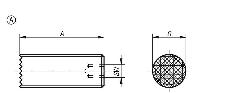 Vis HC striée ou à insert à picots - Vis à bille orientable et inserts à picots
