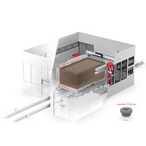 VX4000 - Build space LxWxH 4,000 x 2,000 x 1,000 mm