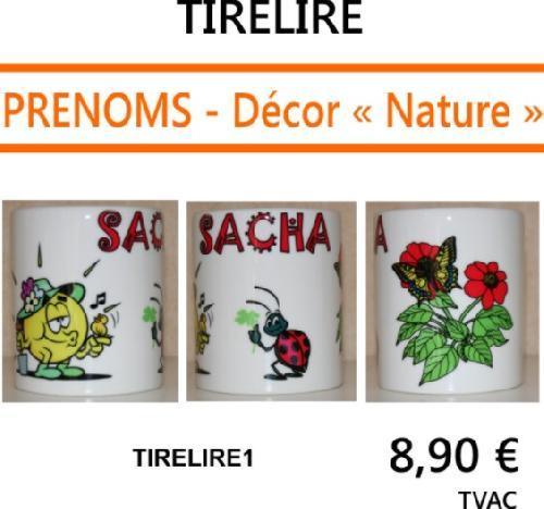 Tirelire en porcelaine