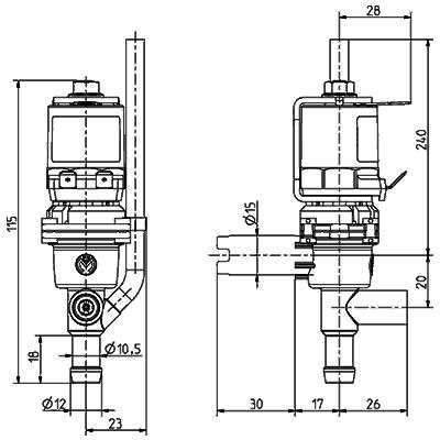 Electrovanne de chauffe-eau, DN 8 - 46.008.118