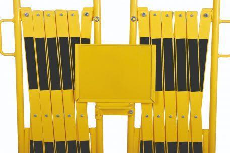 Kit 2 Pcs. Barrière Extensible Jaune-noir 2,0m - Barrières De Sécurité