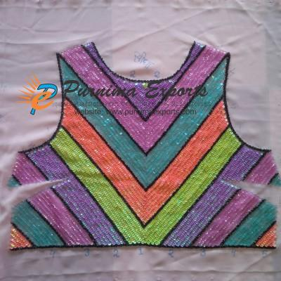 Sequin Embroidered Garment Panel - Job Work India - Custom Embroidered Fabric | Garment embroidery as per pattern