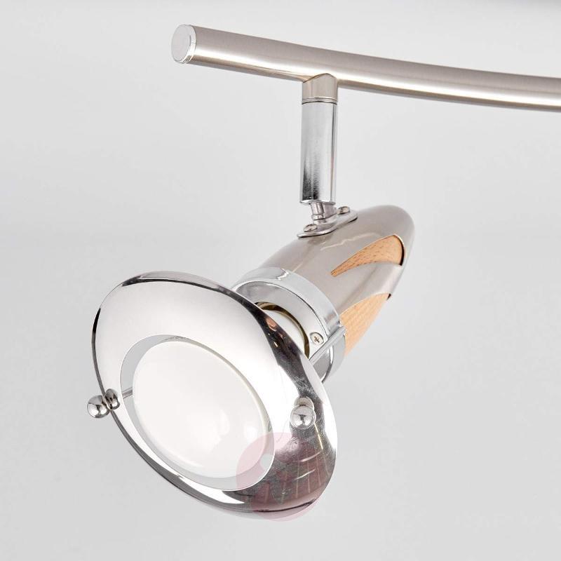 4-light wooden ceiling light Sharleen - Ceiling Lights