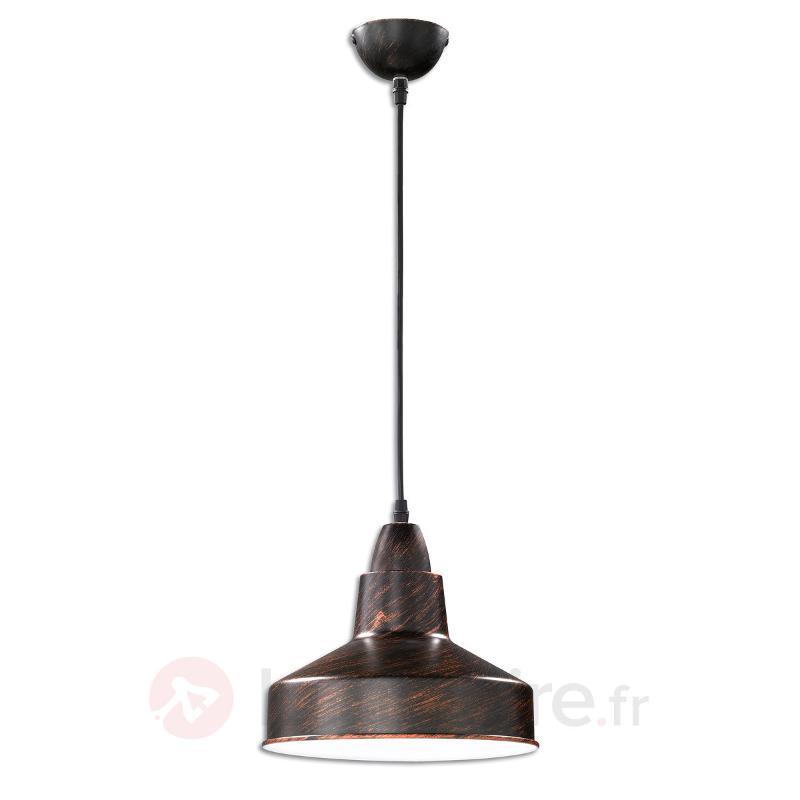Suspension métallique Buddy couleur rouille - Cuisine et salle à manger