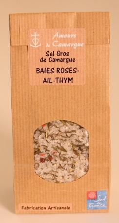 SACHET KRAFT - SEL GROS DE CAMARGUE - BAIES ROSES, AIL... - Epicerie salée
