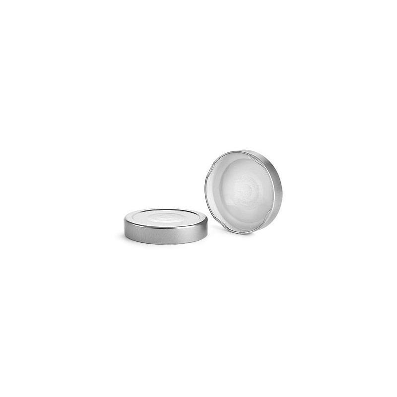 10 caps DEEP Ø 76 mm Silver color for pasteurization - CAPS DEEP