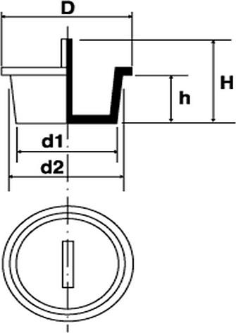 N130 - Bouchons à languette centrale - Bouchons lisses pour taraudages et axes