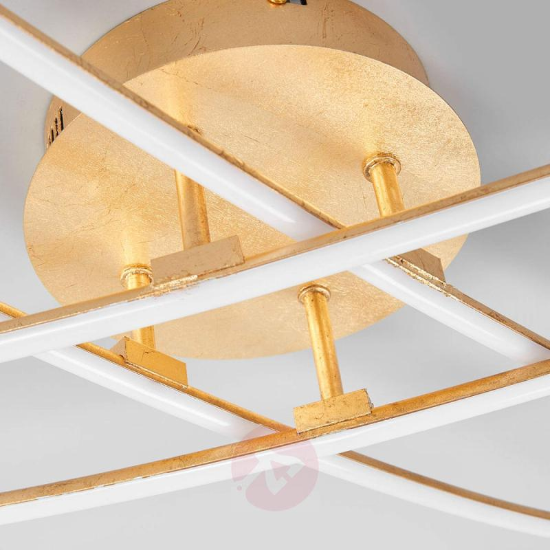 Golden LED Ceiling Light Yael With Four Rods   Indoor Lighting ...