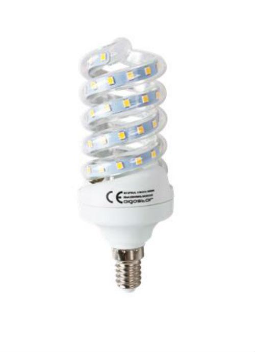 Lampadine LED a spirale E14 - 11W trasparente 3000/6400K 950/1000lm