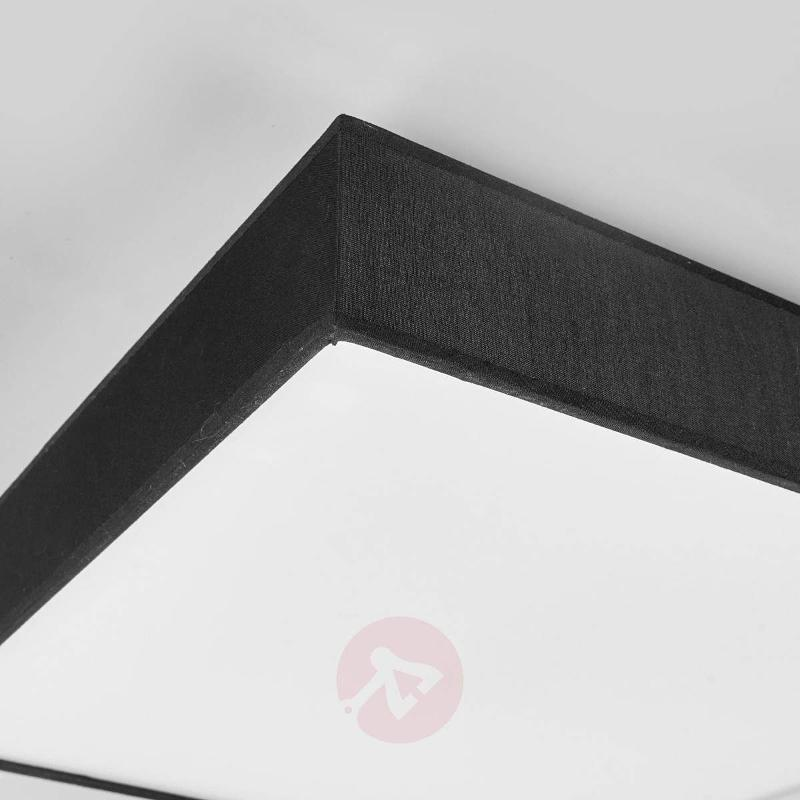 Black, angular fabric ceiling lamp with LEDs - Ceiling Lights
