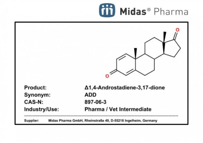 Δ1,4-Androstadiene-3,17-dione - Δ1,4-Androstadiene-3,17-dione; ADD; 897-06-3; Exemestane Intermediate