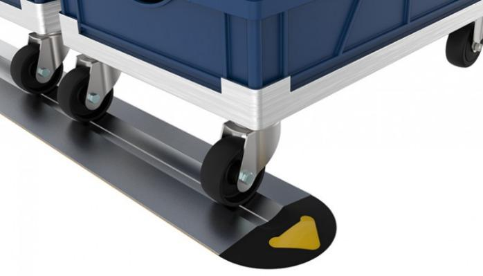 Parking Rails (Set) for rolling carts - Precise, space-saving and safe positioning of Dollies