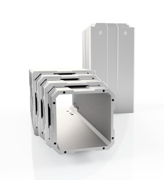Column - Aluminium guiding tubes